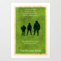 princess bride Art Prints featuring The Princess Bride by Chad Trutt