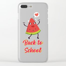 Back to School Watermelon Design Clear iPhone Case