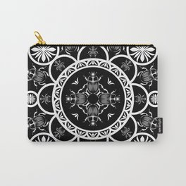 Scarab tile line pattern with black Background Carry-All Pouch
