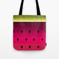 watermelon Tote Bags featuring Watermelon by Kakel