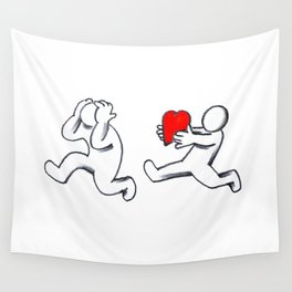Take my love, hatetolove Wall Tapestry