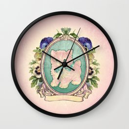 Kitschy Pink Kitten Wall Clock