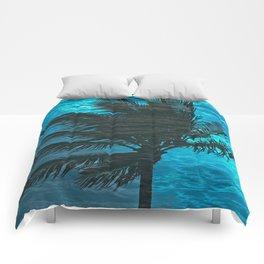 SWIMMING PALM Comforters