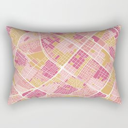 Bogota map Rectangular Pillow