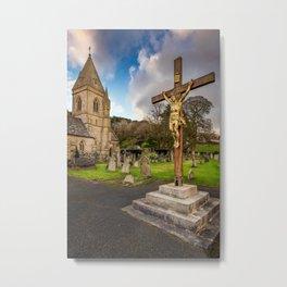 Pantasaph Church Crucifixion Metal Print