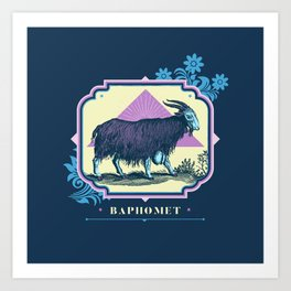 Pastel Baphomet Goat Art Print