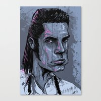 nick cave Canvas Prints featuring Nick Cave by Melissa Dow Illustration