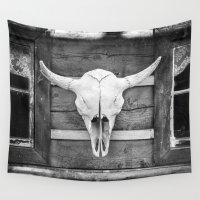 buffalo Wall Tapestries featuring  Buffalo Skull by davehare