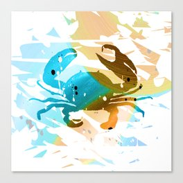 Colorful Art Crab Abstract 4 Canvas Print
