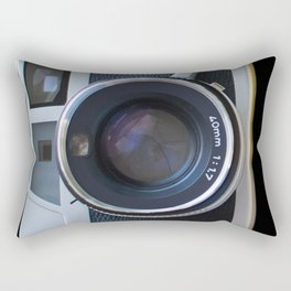 The look of a large lens vintage camera Rectangular Pillow