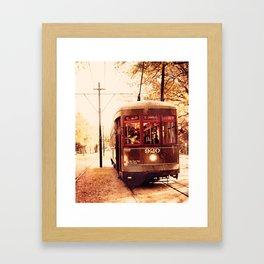 St Charles Street Car - New Orleans Framed Art Print