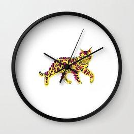 Colerful Cat Wall Clock