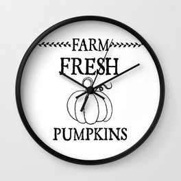 Farm Fresh Pumpkins Wall Clock
