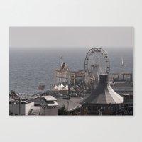 santa monica Canvas Prints featuring Santa Monica by cbrocoff