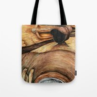 truck Tote Bags featuring Old Truck by Kirsten Neil