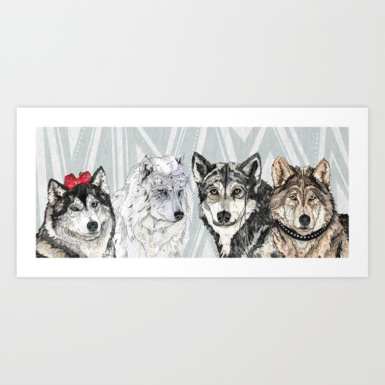 Wolf Family Portrait Art Print