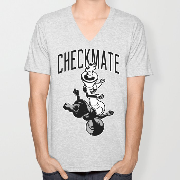 Checkmate Punch Funny Boxing Chess Unisex V-Neck