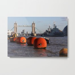 The River Thames, London, England Metal Print