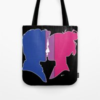 bisexual Tote Bags featuring Bisexual Love by Winter Graphics