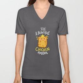 Funny Chicken Nugget Nug Life Fast-Food Junk Gift Unisex V-Neck
