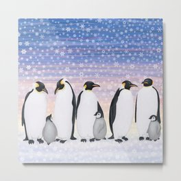 emperor penguin colony Metal Print