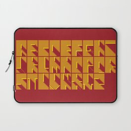 Alphabetical Pixel Red Laptop Sleeve