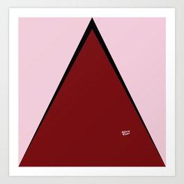COLOUR COUPLES RED LIPSTICK #colour #minimal #fashion #design #home #decor #buyart Art Print