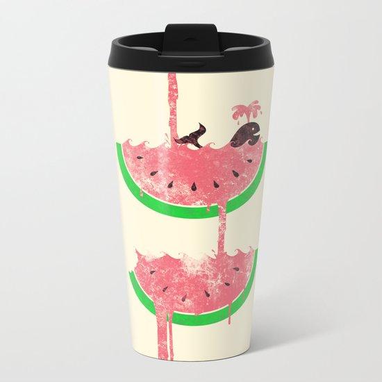 watermelon falls Metal Travel Mug