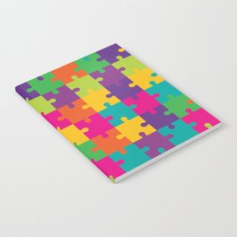 Colorful Jigsaw Puzzle Pattern Notebook