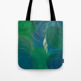 green blue ocean with a silver lining Tote Bag