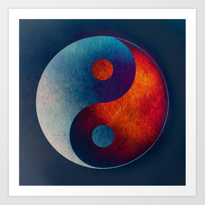 Yin Yang Symbol Art Print By Klaraacel Society6