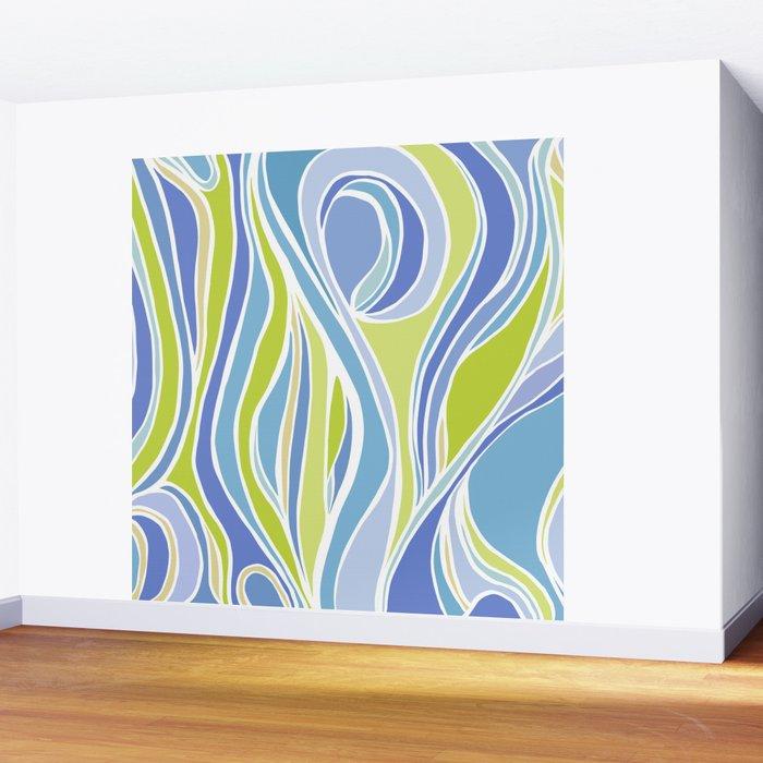 Absinthe Abstract Wall Mural