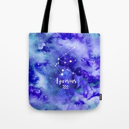 Aquarius Constellation Tote Bag