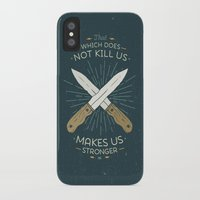 nietzsche iPhone & iPod Cases featuring That which does not kill us makes us stronger by Beardy Graphics