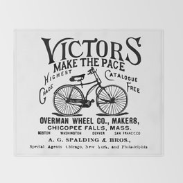 Vintage Bicycle Throw Blanket
