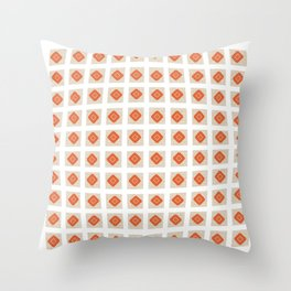 Cool Modern Checked Patern Throw Pillow