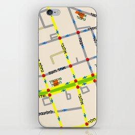 Tel Aviv map - Rothschild Blvd. Hebrew iPhone Skin