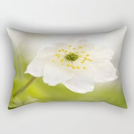 Gentle Beauty Of Nature White Anemone #decor #society6 Rectangular Pillow