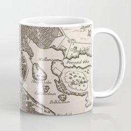 Vintage Map of Stockholm Sweden (1764) Coffee Mug