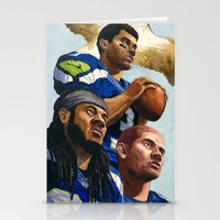 seahawks Stationery Cards featuring Seahawks by Chad Gowey
