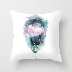 Universe light Throw Pillow