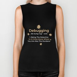 Computer Programmer Gift: Debugging Definition Biker Tank