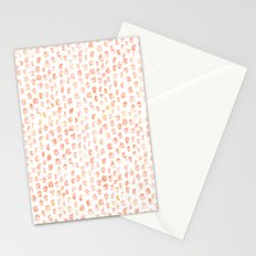 Pretty Peach Watercolor Abstract Stationery Cards