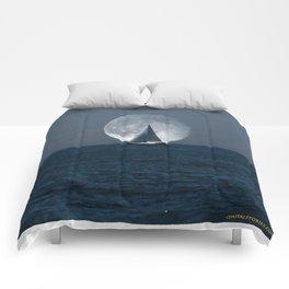Full Moon Sailing Comforters