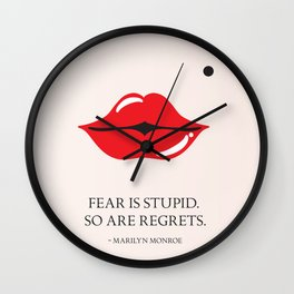 From the lips of Marylin Monroe Wall Clock
