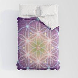 Purple Flower of Life Comforters