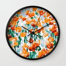 Isadora #illustration #painting #botanical Wall Clock