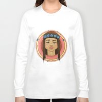 hippy Long Sleeve T-shirts featuring Sad Little Hippy by Eevin-Leigh