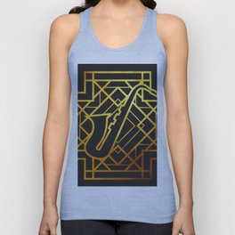 Art Deco Saxofon Unisex Tank Top