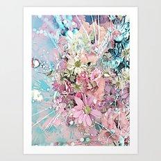 Party Flowers Art Print